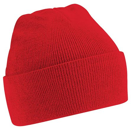 Photo of Red Beanie Original Cuffed Beanie Multi-Functional Headwear Work Hat