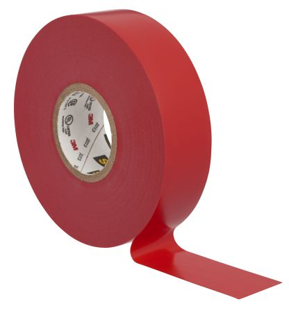 Photo of 3M Scotch 35 Red Electrical Tape 19mm x 20m SCOTCH 35 ROUGE 20 X 19 PVC Rubber 8750V
