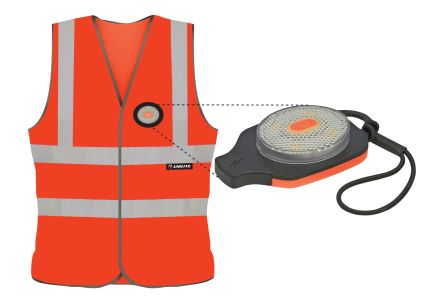 Photo of Unilite Orange Hi-Vis Vest With USB Recharable LED Light Large Size SV-010L Safety Waistcoat Unisex