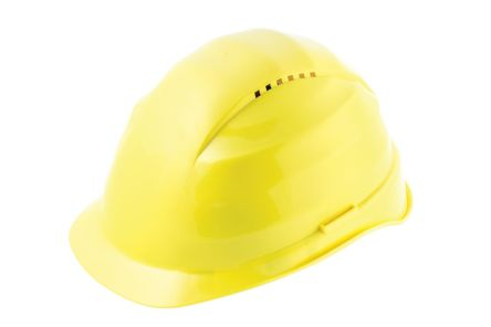 Photo of Alpha Solway Hard Hat Rockman Yellow Ventilated Safety Helmet C3