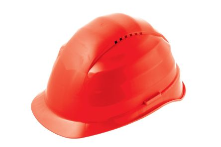 Photo of Alpha Solway Hard Hat Rockman Red Ventilated Safety Helmets C6