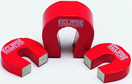Eclipse 28.5mm Aluminium Alloy Horseshoe Magnet Pack of 2 E802 Pocket Magnets