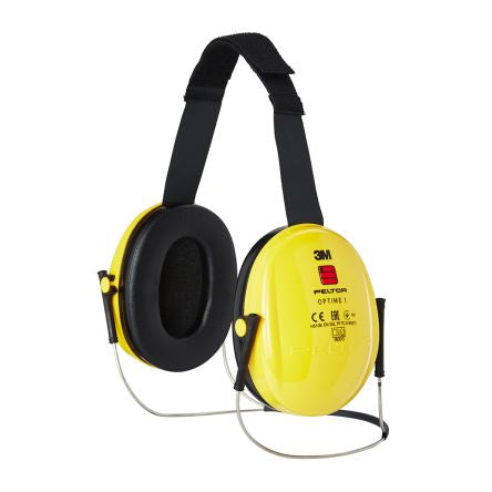 Photo of 3M Peltor™ Ear Defender & Neckband Optime™ 26dB Ear Protectors H510B-403 Earmuffs Yellow