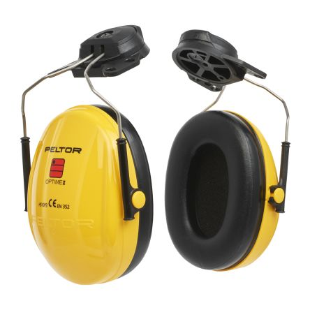 Photo of 3M Peltor™ Ear Defenders Optime™ I 26dB Ear Protectors & Helmet Attachment H510P3G Yellow