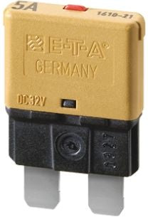 ETA 7.5A 1 Pole Automotive Thermal Circuit Breaker, 32V dc