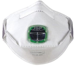 Photo of JSP Disposable Face Mask FFP1 Valved Typhoon Valve Fold Flat Masks BEY110-201-A00 Box of 10