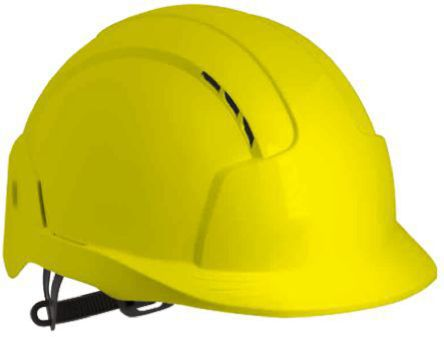 Photo of JSP Hard Hat EVOLite Safety Helmet Yellow ABS Ventilated AJB160-000-200