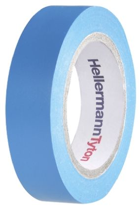 Photo of HellermannTyton HelaTape Flex Blue Electrical Insulation Tape 15mm x 10m 710-00100 Rubber