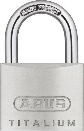 Photo of ABUS Padlock 40mm Titalium Key Weatherproof Padlocks 6.5mm x 29.5mm Grey Locks