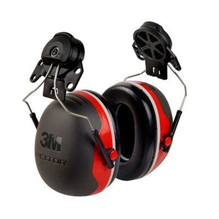 Photo of 3M™ Ear Defenders Peltor™ X3 25dB Ear Protectors & Helmet Attachment X3P3E-RD Red Helmet Mounted