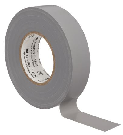 Photo of 3M Temflex 1500 Grey Electrical Tape 10 Rolls 15mm x 10m DE-2729-5094-5 PVC 0.15mm Rubber 6000V