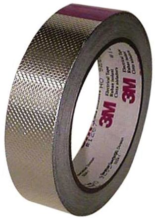 Photo of 3M 1267 Conductive Aluminium Tape 0.13mm W.25.4mm L.16m 1267-1