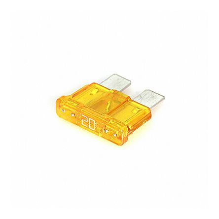 Photo of Cooper Bussmann 20A Yellow Automotive Car Fuse, 32V dc, ATC-20 Automotive Fuses