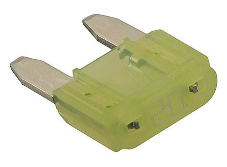 Photo of Cooper Bussmann 20A Yellow Car Fuse, 32V dc ATM-20 Automotive Fuses