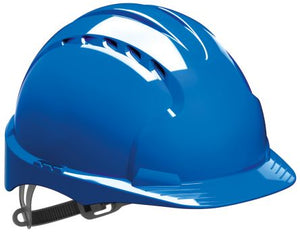Photo of JSP Hard Hat EVO3® Safety Helmet Blue HDPE Ventilated AJF160-000-500
