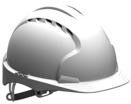 Photo of JSP Hard Hat EVO3® Safety Helmet White HDPE Ventilated AJF160-000-100