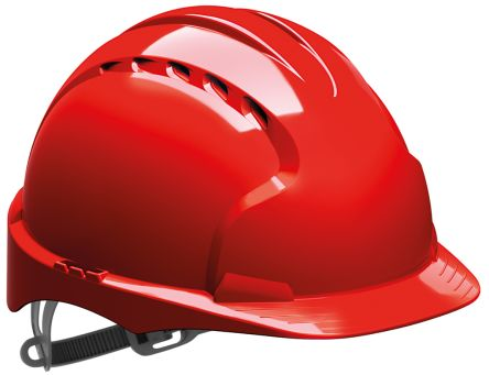 Photo of JSP Hard Hat EVO3® Safety Helmet Red HDPE Ventilated AJF160-000-600