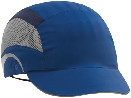 Photo of JSP Navy Short Peaked Bump Cap, HDPE Protective Material