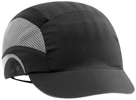 Photo of JSP Black Short Peaked Bump Cap, HDPE Protective Material