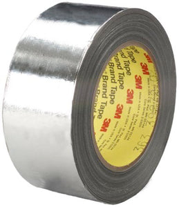 Photo of 3M 363 Conductive Aluminium Tape High Temp Foil/Glass Cloth Silver 50 mm x 33 m Silicone +316°C / -54°C