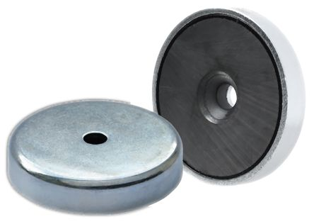 Eclipse 40mm Hole Ferrite Magnet Bag of 2 E878RS Countersunk Shallow Pot Magnet
