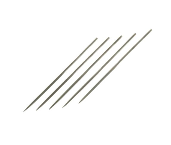 photo 1 of RS PRO 160mm Single Cut HCS Three Square Needle File - PACK OF 5 Fine Needle Files