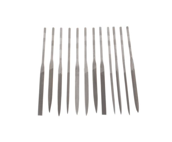 photo 1 of RS PRO 165mm, 12 pieces Standard Needle File Set, Barrette, Flat/Warding, Half-Round, Oval Needle Files
