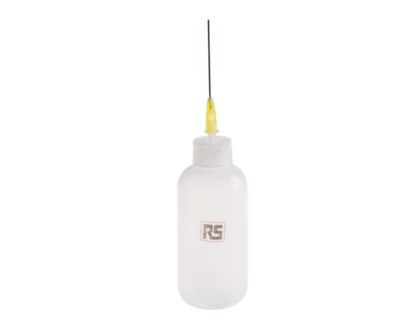 photo of 60mL Precision Dispenser Squeeze Bottle for Oil & Solvent, Long Blunt Needle Ideal for Soldering & Desoldering Process