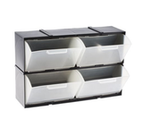 photo 2 of RS PRO Black, Plastic 4 Drawer Storage Unit, Interlocking Cabinets with Tilt & Pull Drawers