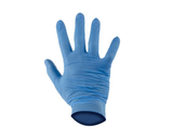 photo 2 of Blue Nitrile Gloves Size 6.5 Large, 100 Pack Powder-Free Disposable Gloves, Mechanics Gloves