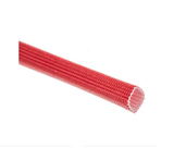 photo 1 of RS PRO Braided Acrylic Fibreglass Red Cable Sleeve, 6mm Diameter, 5m Length