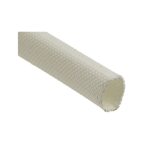 photo 1 of RS PRO Braided Fibreglass Natural Cable Sleeve, 12mm Diameter, 5m Length
