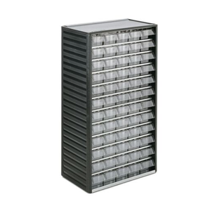 photo of RS PRO Grey, PP 60 Drawer Storage Unit, 550mm x 310mm x 180mm - Small Parts / Component Storage