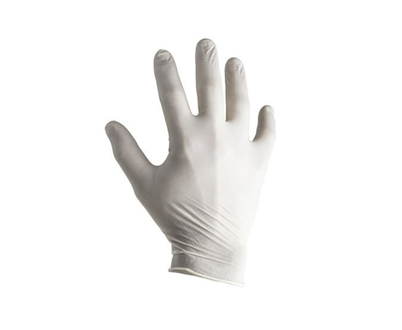 photo 1 of Natural Latex Gloves Size 7 Small, Pre-Powdered 1.5 AQL Examination Glove PPE, Food, Chemicals, Automotive
