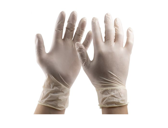 photo 1 of Natural Latex Gloves Size 9 Large, Powder-free 1.5 AQL Examination Glove PPE, Food, Chemicals, Automotive, Mechanics Gloves