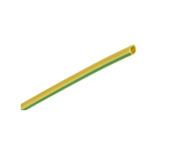 photo of RS PRO PVC Green/Yellow Cable Sleeve, 2mm Diameter, 50m Length