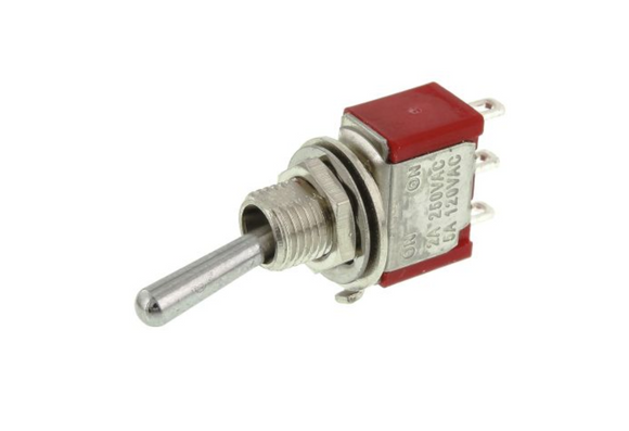 photo 1 of SPDT Toggle Switch On-On, Miniature Panel Mount Latching Switches PACK 0f 5, 5A @125V AC, 5A @28V DC