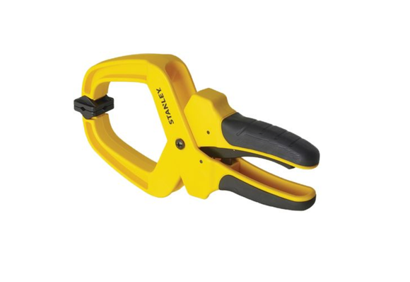 photo of Stanley Hand Clamp 50mm x 55mm Hand Clamping Tool, Soft Grip Handle STHT0-83199