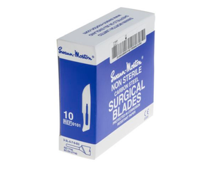 photo of Swann-Morton No.10 Carbon Steel Scalpel Blades - Box of 100 Accurate Fine Blades