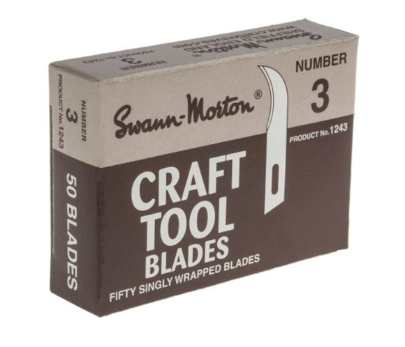 photo of Swann-Morton No.3 Curved Carbon Steel Scalpel Blade - Box of 50 Fine Precision Scalpel Blades