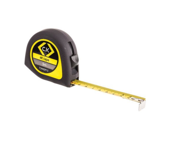 photo of CK ST 5m (16ft) Tape Measure, Metric Softech Tape Measures T3442M 5