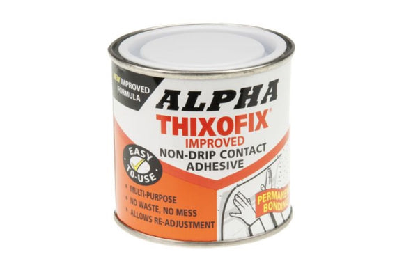 photo of Alpha Thixofix Contact Adhesive 250 ml Can Beige Adhesives Bonding Gel THIXOFIX-250
