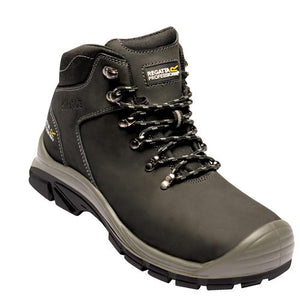 Mens Safety Boots Steel Toe Cap Regatta Peakdale Sizes 7-12 Black or Peat TRK114