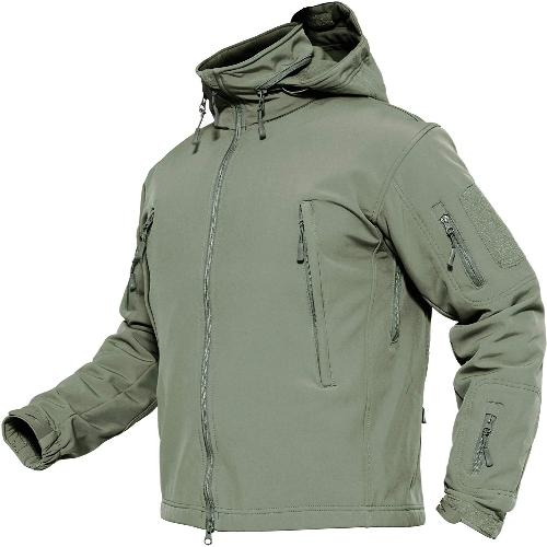 Mens TS Tactical Softshell Jacket Size S-3XL Hooded Military Zip Up Jackets UK