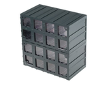 photo 3 of Terry Transparent, Plastic 16 Drawer Storage Unit, 208mm x 208mm x 132mm - Component Storage Cabinet