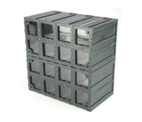 photo 4 of Terry Transparent, Plastic 16 Drawer Storage Unit, 208mm x 208mm x 132mm - Component Storage Cabinet