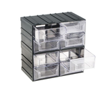 photo 2 of Terry Transparent, Plastic 8 Drawer Storage Unit, 208mm x 208mm x 132mm - Component Storage Cabinet