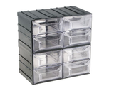 photo 1 of Terry Transparent, Plastic 8 Drawer Storage Unit, 208mm x 208mm x 132mm - Component Storage Cabinet