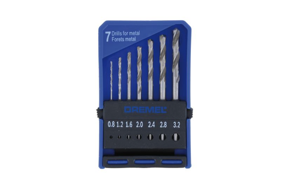 photo 1 of DREMEL® 7 Piece Precision Drill Bit Set 628, Miniature Drill Bits 0.8mm - 3.2mm, Mini Drill Bits for Wood & Metal, Dremel Accessories 2.615.062.832