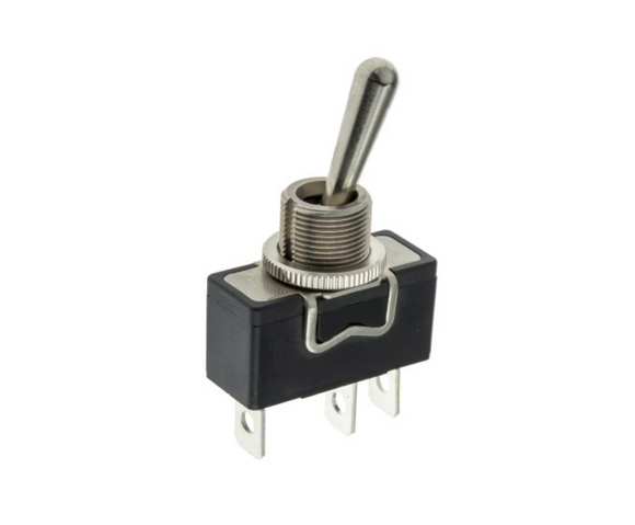 photo 1 of APEM Toggle Switch X32CP, Single Pole Double Throw (SPDT) On-Off-On, Panel Mount X & Y Series